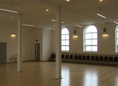 the main practice hall